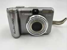 Canon Powershot A620 7.1MP Digital Camera with Carry Pouch No SD Card