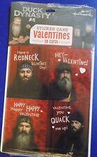 NEW Hallmark Duck Dynasty Valentines Valentine's Sticker Cards 28 Pack FREE SHIP