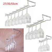 """10""""/13""""/21"""" Wine Glass Hanger Rack Stemware Home Bar Pub Holder Stainless Steel"""