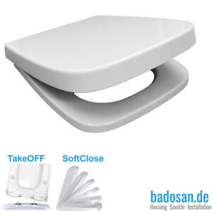 WC-Sitz SoftClose für Keramag Renova Nr. 1 PLAN eckig Absenkautomatik weiß