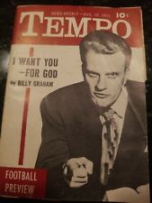 Billy graham Tempo vintage celebrity magazine pin up cover