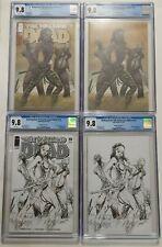 Walking Dead #19 CGC 9.8 Set of 4 Variants 15th Anniversary A, B, C, D Image