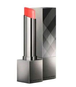 New in Box Burberry Kisses Sheer Shine Lip Colour in No.257 Coral, 0.07oz