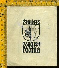 Ex Libris Originale a 536 Edgardz Rodina