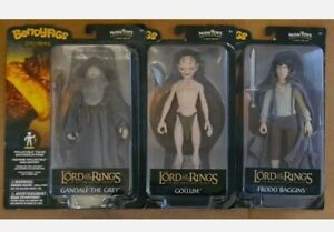 Set Of 3 Brand New Lord of the Rings Bendy Figure Bendyfigs Gandalf Gollum Frodo