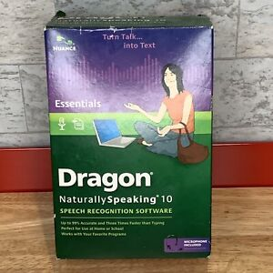 NEW Nuance Dragon Naturally Speaking 10 Essentials with Headset NEW IN BOX