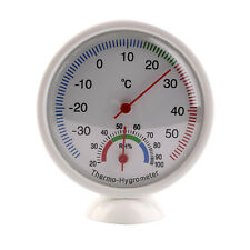 Round Indoor Analog Temperature and Humidity Meter Thermometer Hygrometer