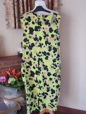 NEON GREEN FLORAL TUBE BODYCON FLORAL DRESS BY NEXT SIZE 18 (16/14) - SUMMER