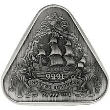 2020 Australia Vergulde Draeck Shipwreck Antiqued 1 oz Silver Coin - 1,000 Made