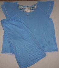 NWT Encore Karen Neuburger Blue/White POLKA DOTS Pajama BERMUDA Shorts Set 2X