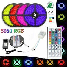 LED Strip Light RGB 5050 SMD 2835 Flexible Lamp RGB Stripe 5M 10M 15M Full kit