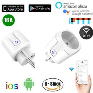 Smart Wlan Steckdose Smart Home Sockel Plug Funktioniert für Amazon Alexa Google