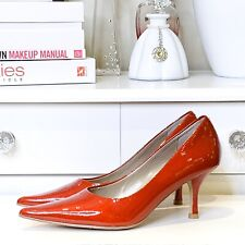 Moda Spana Candy Apple Red Patent Leather Pump Size 7M