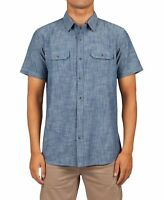 Rip Curl Mens Shirt Chambray Blue Size Small S Button Down Rudy Classic $54 051