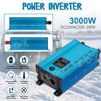 Inversor Convertidor 3000W 4000 Watt 12V 220V Power Inverter LCD Control Remoto