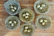 Pier One Imports Gold Glitter Bird Nests With Eggs Set Of 6 Home Decor