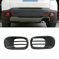 fit 2015-2019 Jeep Renegade Iron Rear Bumper Reflector Fog Lamp Cover Trim-Black