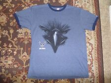 SOFFE AIR FORCE ARMED FORCES EAGLE MEN'S BLUE T SHIRT SIZE XL