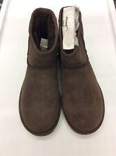 UGG Women Classic Mini II Sheepskin Boots 1016222 Chocolate Size 6