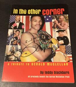 Rare Gerald McClellan Roy Jones Jr Signed Program Boxing JSA COA