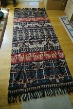 ANTIQUE IKAT SUMBA INDONESIAN MUTED RED, BLUE AND BROWN #2