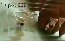 2 piece SET 👑 QUEEN Nefertiti  CUFF BANGLE & RING  By - Bee's Expressive Ears