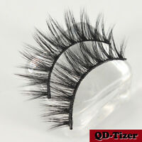 3 Pairs 3D Natural False Eyelashes Long Cross Thick Fake Eye Lashes Makeup Mink