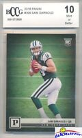 2018 Panini #306 Sam Darnold Canvas Short Print ROOKIE BECKETT 10 MINT
