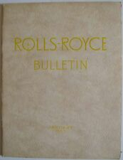 Rolls Royce Bulletin Jan. 1957 Main article on The Avons of Wales