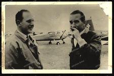 Foto-AK-Adolf-Galland-Hauptmann-von Pappenheim-Luftfahrtschau-Langenhagen-1968