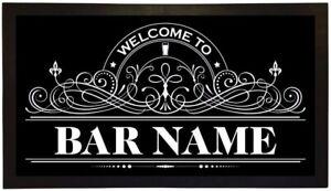 Personalised rubber Bar Mat