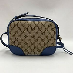 Authentic Gucci Blue Supreme Canvas Bree