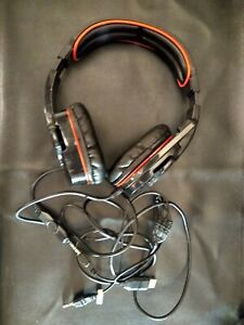 Sades SA-708 Surround Sound Stereo Gaming Wired Headset Headphone w/ Mic for PC