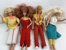 Vintage! 1960's Stylish Handmade Outfits Retro Barbie/ Ken Dolls Lot Of 4