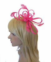 STUNNING NEON HAIR FASCINATOR - WEDDING LARGE CLEAR COMB YELLOW PINK GREEN RACES