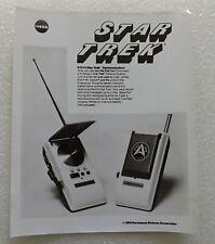 1976 MEGO STAR TREK B&W SALESMAN SAMPLE PHOTO OF COMMUNICATORS WALKIE TALKIES