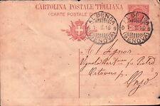 INTERO POSTALE DA 10 CENT. DA ALBENGA PER ONZO 1916 C10-788