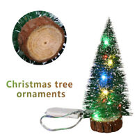 15CM Mini Christmas Trees with LED Lights Ornaments Desk Table Decor Xmas Gift