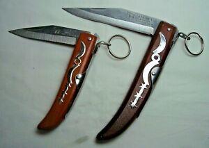 OKAPI made in South Africa 2 single blade ring lock folding knives NEW repro