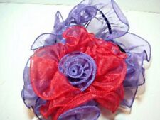NEW Red and Purple Flower Headband or Hatband for Hat Lady Society **FREE SHIP**