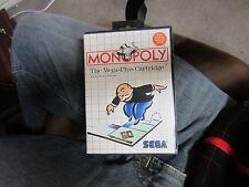 SEGA MASTER SYSTEM MONOPOLY ORIGINAL CARTRIDGE VIDEO GAME RARE VINTAGE CASE