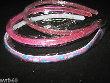 girls alicebands set of  3 pretty plastic hairbands  new