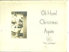 1950s Oh Hum! Christmas Again Child on Toilet Christmas Card Joneses