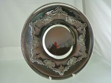 GADROON BORDER FLOWER GARLAND ROLLED RIM TRAY BY INTERNATIONAL SILVER CO.