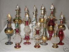 12 Egyptian HANDMADE Perfume Bottle +GOLD WHOLESALE LOT