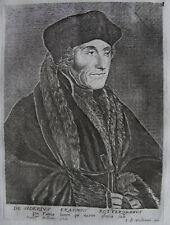 ERASME (1567-1636)  PORTRAIT GRAVURE ORIGINALE 18 EME ESME  BOULONNOIS