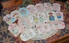 62 Primitive Scrapbooking Gift Package Box Hang Tags Raggedy Ann Crows Bears