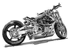 Confederate P120 Fighter Motorcycle. Original Fine Art