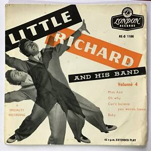 "LITTLE RICHARD & HIS BAND Volume 4   1950s UK London Rock & Roll P/S 7"" EP"