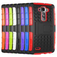 For LG G Flex 2 LS996 Case Hybrid Dual Layer Shockproof Kickstand Phone Cover